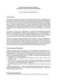 Evidence-based Social Work Practice. Ein Impuls zu mehr und zu ...