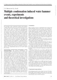 Multiple condensation induced water hammer events ... - Kfki