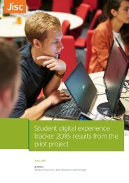 Student digital experience tracker 2016 results from the pilot project