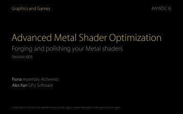 Advanced Metal Shader Optimization