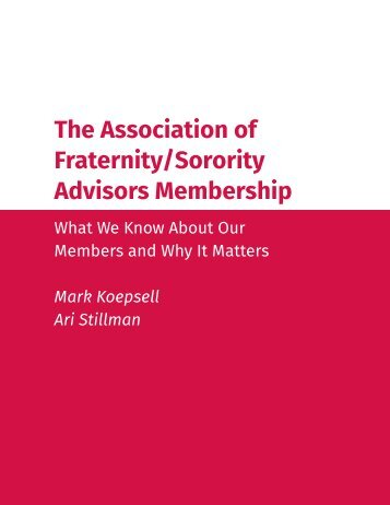 The Association of Fraternity/Sorority Advisors Membership