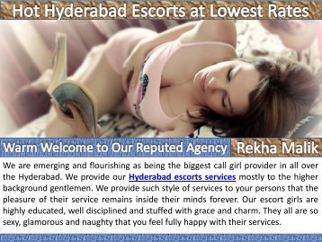 Hot Hyderabad Escorts at Lowest Rates