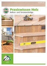 Praxiswissen Holz - Balkon- und Terrassenbeläge