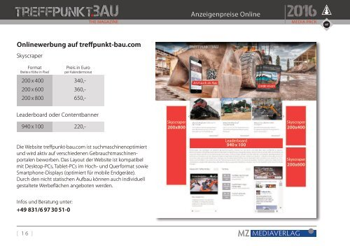 Treffpunkt.Bau Media Pack 2016