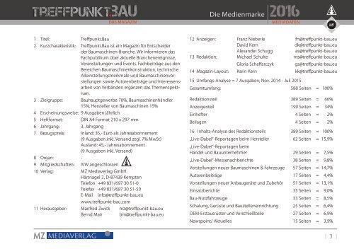 Treffpunkt.Bau Mediadaten 2016