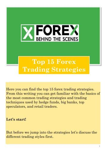 Top 15 forex trading strategies for profit