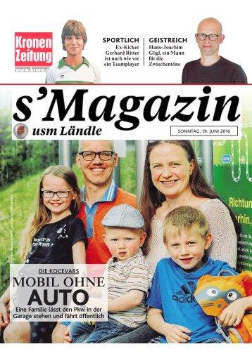 s'Magazin usm Ländle, 19. Juni 2016