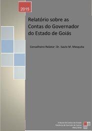 Relatório sobre as Contas do Governador do Estado de Goiás
