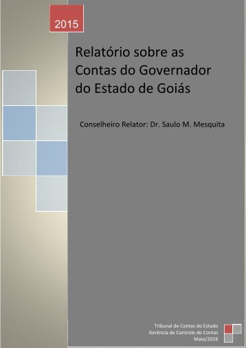 Relatório sobre as Contas do Governador do Estado de Goiás