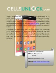 Find your Cell Phone Unlock Codes