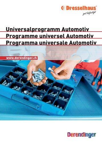 Dresselhaus   Universalprogramm Automotiv   Programme universel Automotiv   Programma universale Automotiv