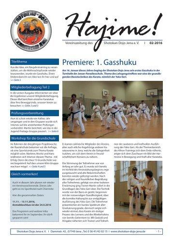 Zeitung Shotokan Dojo Jena 02/2016