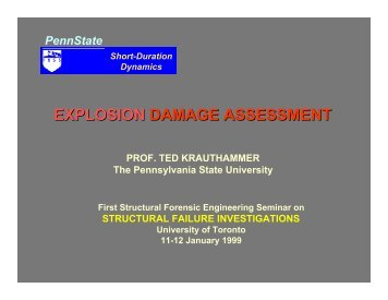 EXPLOSION DAMAGE ASSESSMENT - Pennsylvania State University