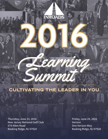 INROADS NJ/NY Region Learning Summit Book