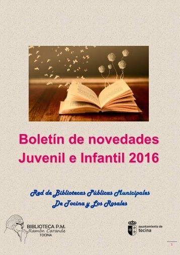 Novedades Juvenil e Infaltil 2016- CLASIFICADO