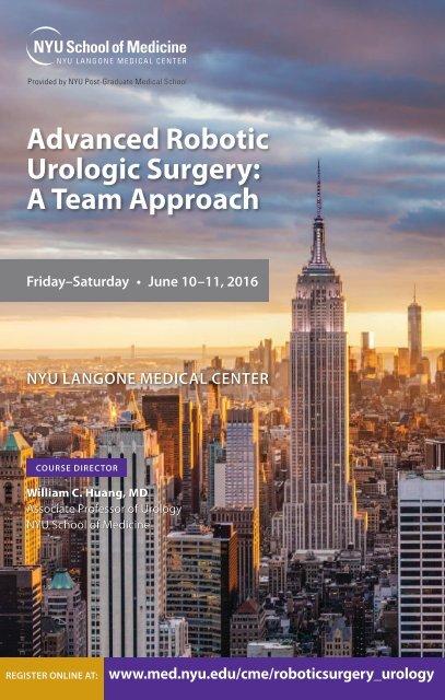 Advanced Robotic Urologic Surgery A Team Approach