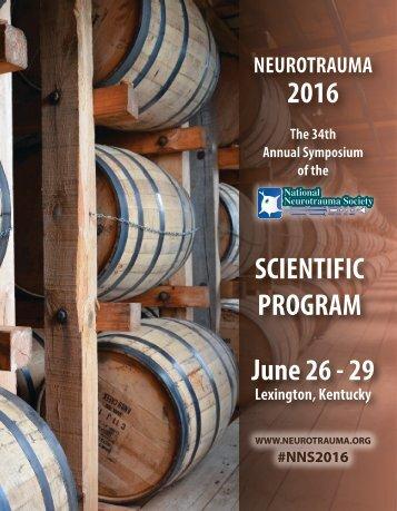 NNS 2016 SCIENTIFIC PROGRAM