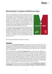 Bewertung des rot-grünen Koalitionsvertrages - Bund für Umwelt ...