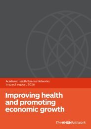 Improving health and promoting economic growth