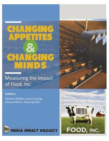 CHANGING APPETITES CHANGING MINDS