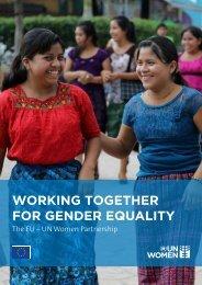 WORKING TOGETHER FOR GENDER EQUALITY