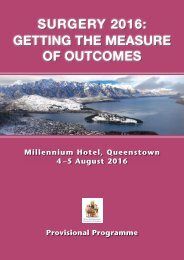 SURGERY 2016 Getting The Measure of Outcomes