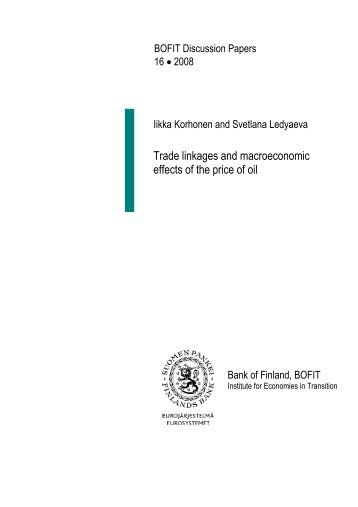 Trade linkages and macroeconomic effects of the ... - Suomen Pankki