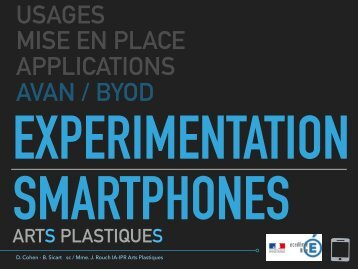 EXPERIMENTATION SMARTPHONES