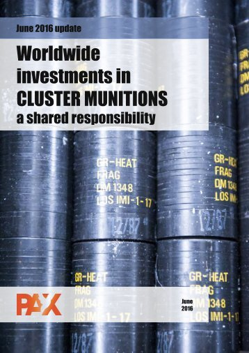 Worldwide investments in CLUSTER MUNITIONS