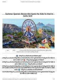 11 Hotspots For Kids To Visit Delhi-NCR _ Tourism Infopedia