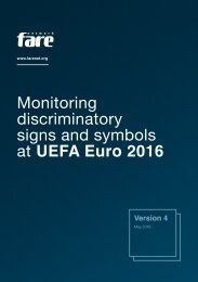 Monitoring discriminatory signs and symbols at UEFA Euro 2016