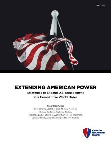 EXTENDING AMERICAN POWER