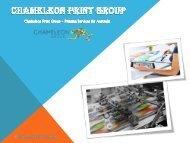 Chameleon Print Group - Printing Services for Australia