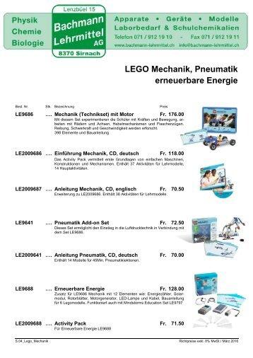 LEGO Mechanik WeDo