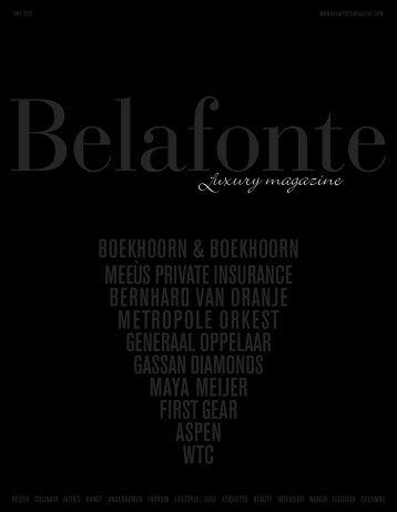 Belafonte magazine Spring 2016