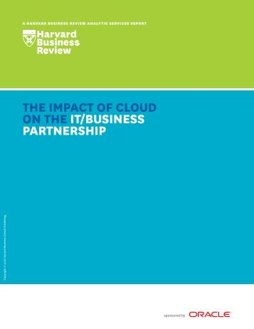ON THE IT/BUSINESS PARTNERSHIP