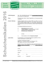 Chemie Chemikalien | Bachmann Lehrmittel