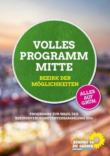 VOLLES PROGRAMM MITTE