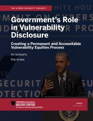 Government's Role in Vulnerability Disclosure