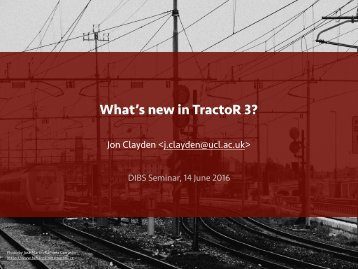What's new in TractoR 3?