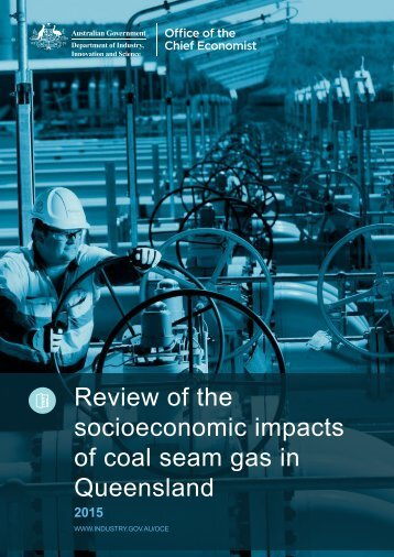 Review of the socioeconomic impacts of coal seam gas in Queensland