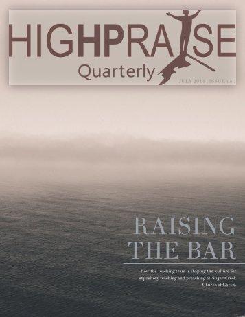 High Praise Q1-14