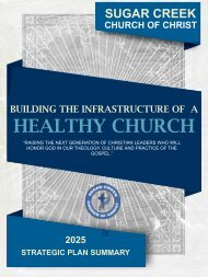2025 Strategic Plan_Building The Infrastructure of A Healthy Church.12.27.15