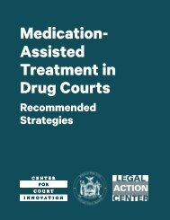 Medication- Assisted Treatment in Drug Courts