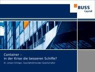 Erfolgsfaktoren für Containerfonds - Feri Trust GmbH