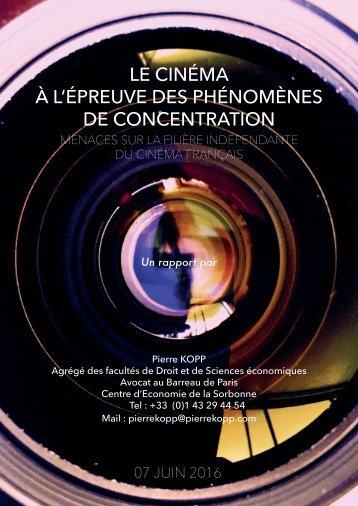 LE CINÉMA À L'ÉPREUVE DES PHÉNOMÈNES DE CONCENTRATION
