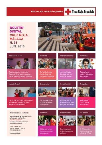 BOLETÍN DIGITAL CRUZ ROJA MÁLAGA N 38 JUN 2016