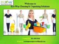 House Cleaning New Jersey|Eco-Way Cleaning & Organizing Solutions