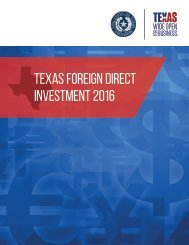 TEXAS foreign direct investment 2016