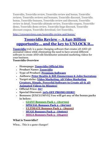 3Toonvidio review-(SHOCKED) $21700 bonuses